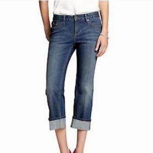 Banana Republic Sewn Cuff Cropped Jeans sz 6